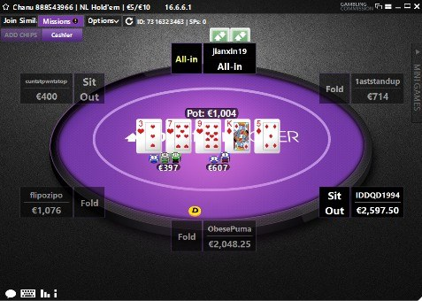 Betfair Poker Table Holdem
