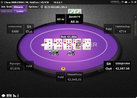 Betfair Poker Table Holdem