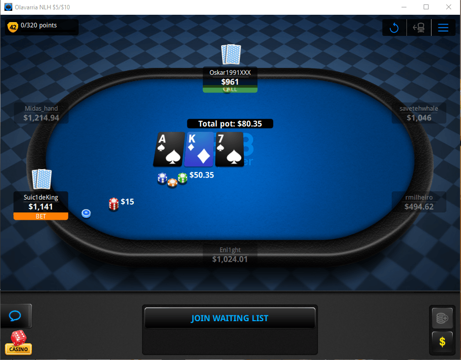 888poker Table Holdem