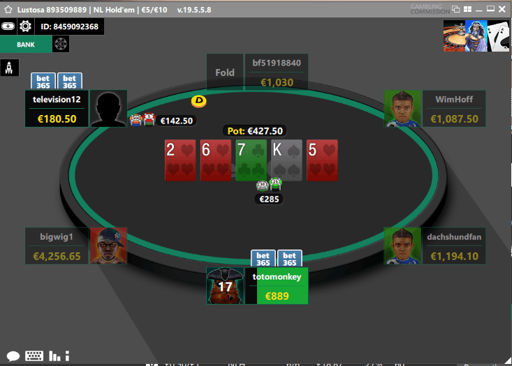 Bet365 Poker Table Holdem
