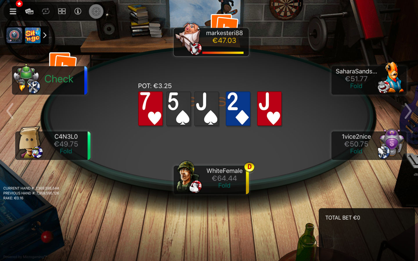 Betsson Poker Table Holdem