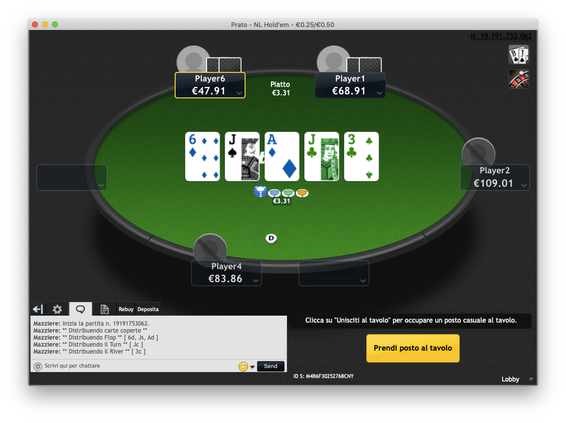 Bwin.it Table Holdem