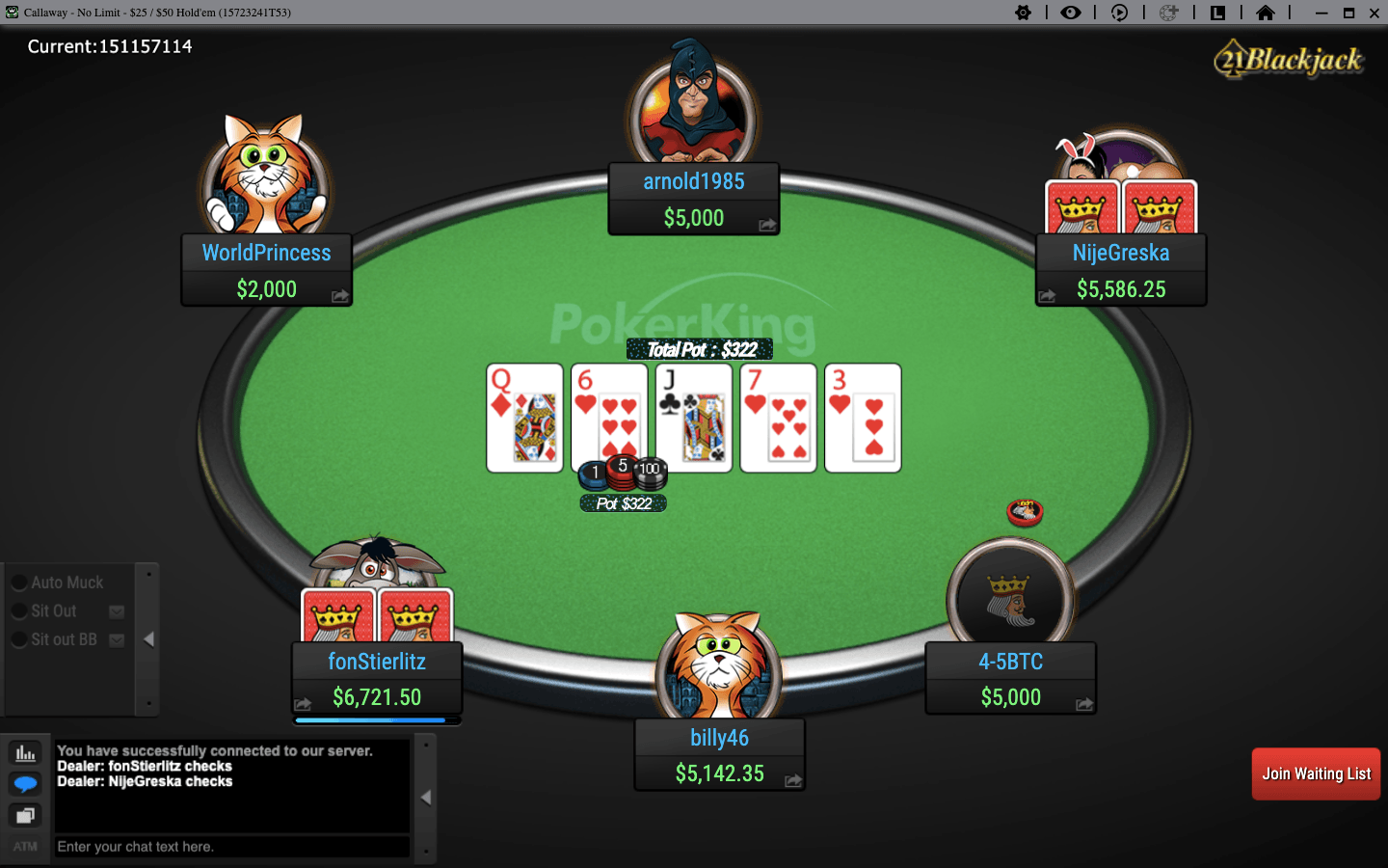 PokerKing Table Holdem