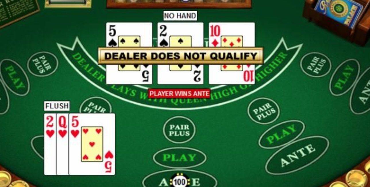 how to play three cards poker